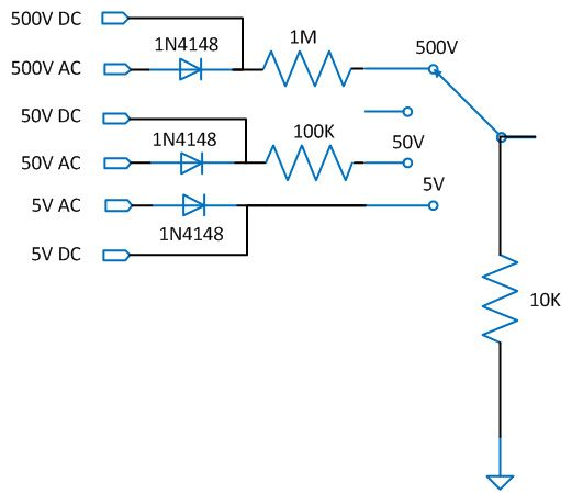 Circuit Diagram Of Voltage Sensor Used In Voltmeter Arduino Arduino Display Arduino Projects