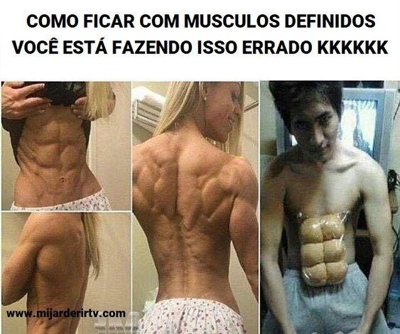 Como ficar com músculos definidos 💪👌😂😜