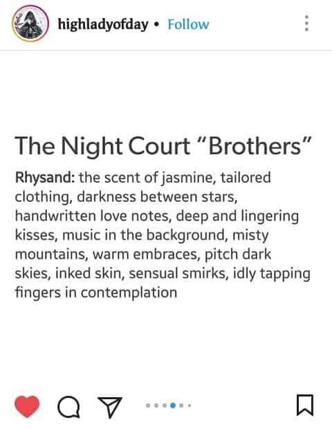 The Night Court Brothers Rhysand A Court Of Mist Fury Sarah J