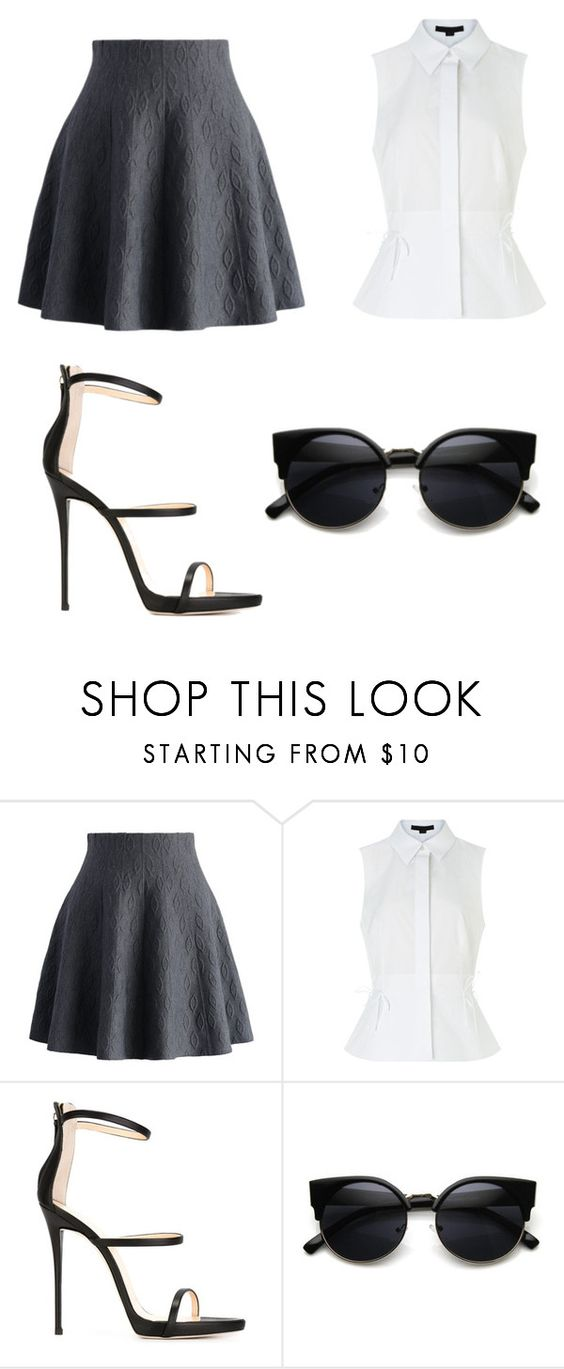 """Untitled #2733"" by marta-moreno-1 ❤ liked on Polyvore featuring Chicwish, Alexander Wang and Giuseppe Zanotti"