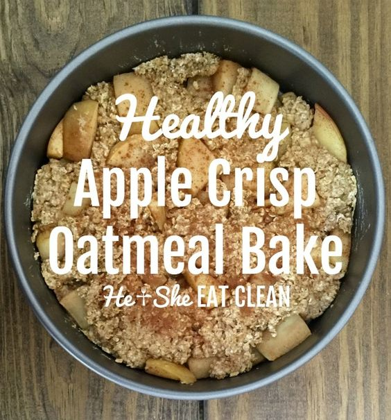 Clean Eat Recipe: Healthy Apple Crisp Oatmeal Bake   He and She Eat Clean Use sweet blend instead of stevie in the raw to keep this the compliant.