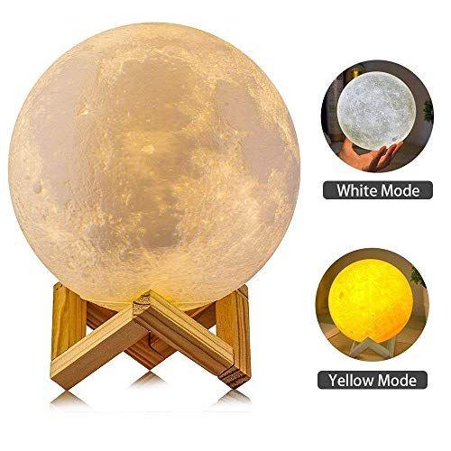 Fegego Mond Lampe 3d Nachtlicht Nachttischlampe Stimmungslicht Led Licht Dimmbare Touch Lampe Fur Wohnzimmer Von Lampen Wohnzimmer Nachttischlampe Nachtlicht