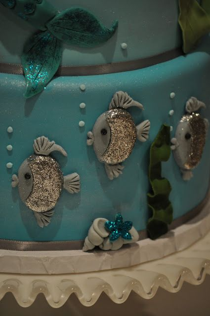 blue cupcake: Mermaid Cake