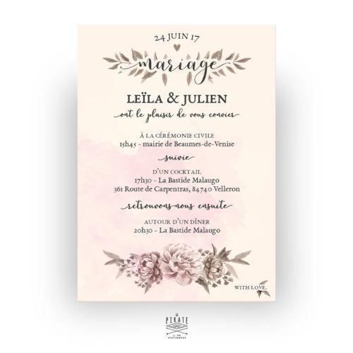 Faire Part Mariage Vintage Romance Aquarelle Creation Francaise Texte Faire Part Mariage Invitation Mariage Originale Faire Part Mariage