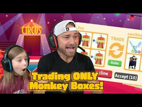 Trading Only Robux Monkey Boxes In Roblox Adopt Me Did Cammy Get Her Cast Off Youtube In 2020 Her Cast Roblox It Cast