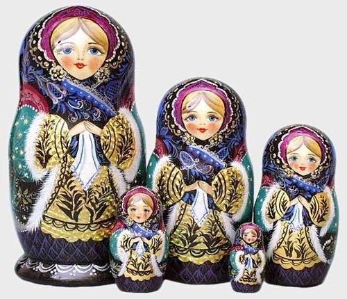 Winter Beauty Matryoshka