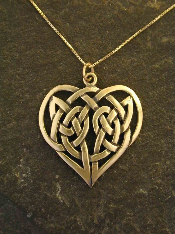 Celtic knots pendants and knots on pinterest for Heart of gold tattoo