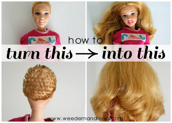 To Fix Barbie And Barbie Hair On Pinterest