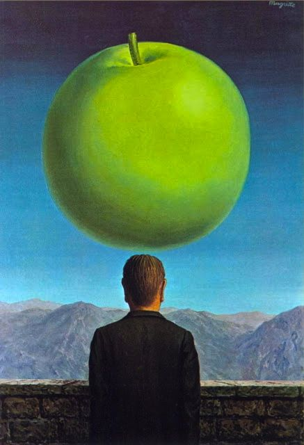 Rene Magritte - The Postcard, 1960