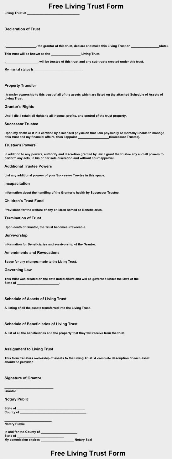 Fill Out And Print A Free Living Trust Form In Just Minutes Online View Free Living Trust Forms That You Can Downloa Living Trust Revocable Living Trust Trust Download a will template free