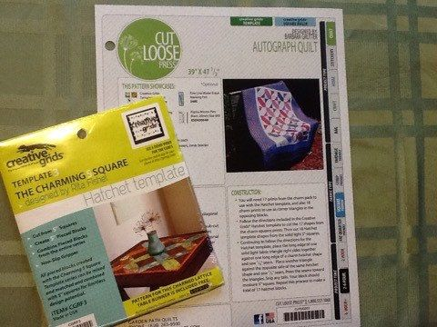 Autograph Quilt Pattern plus Ruler Kit by GardenPathQuilts on Etsy