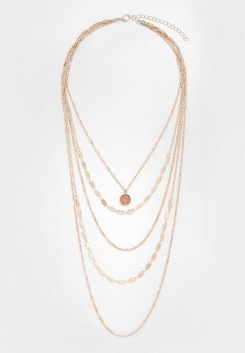 garnet chain drape necklace