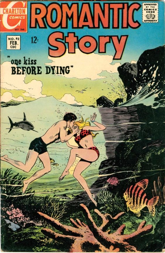 Romantic Story #92 (1968). Cover art: Unknown -- The Best UNDERWATER Comic Book Covers -  A collection of some of the top underwater comic book covers ever created.