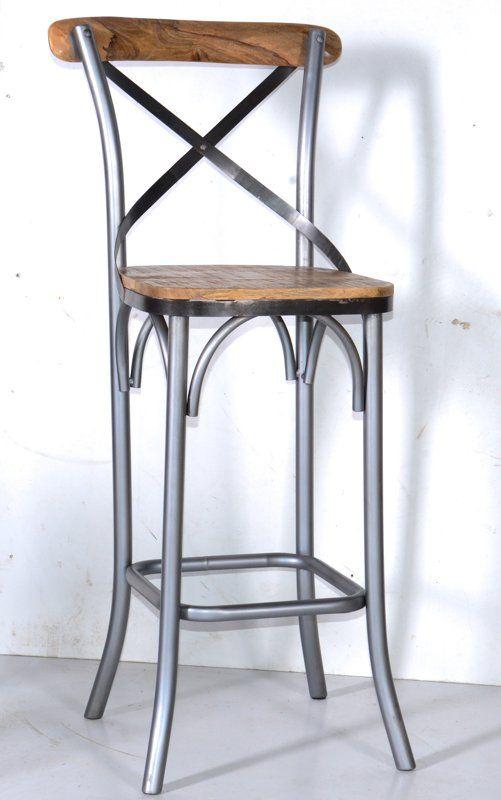 Lot De 2 Chaises De Bar Loft Nola 5934 Chaise Bar Chaise De Bar Industriel Mobilier De Salon