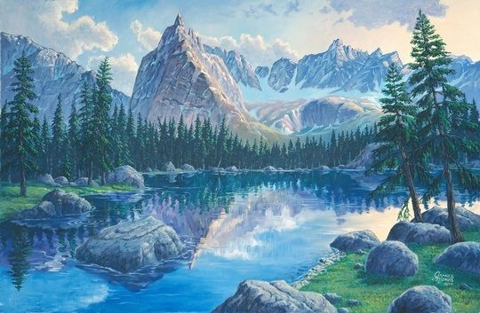 Lone Eagle Peak Colorado Wall Art By James Niehues From Great Big Canvas Landscape Art Mountain Art Scenic Landscape
