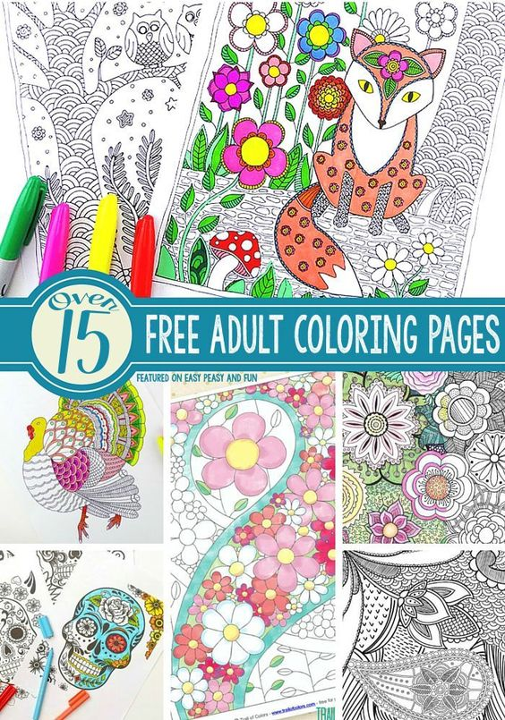 15 Gorgeous Free Adult Coloring Pages - Easy Peasy and Fun