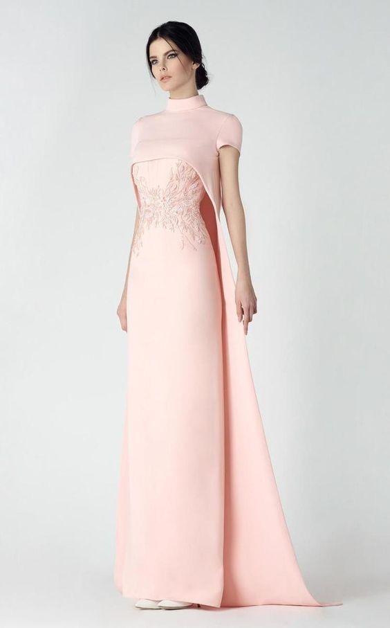 Saiid Kobeisy - Embroidered Cape Gown 2915