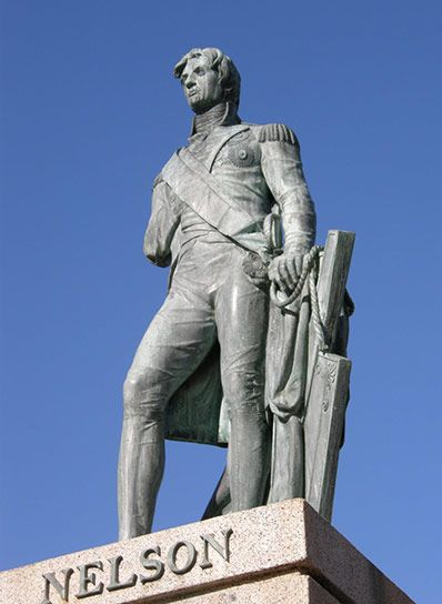 On March 22nd 1813, the statue of Lord Admiral Horatio Nelson in Barbados was created in the city of the Bridgetown.