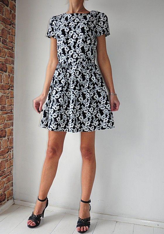 Atmosphere Sukienka Czarna Kwiatki 38 40 Vinted Dresses Dresses With Sleeves Fashion