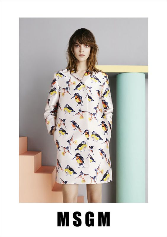 #MeghanCollison for #MSGM #Spring #Summer #2015 #Campaign by #BenToms