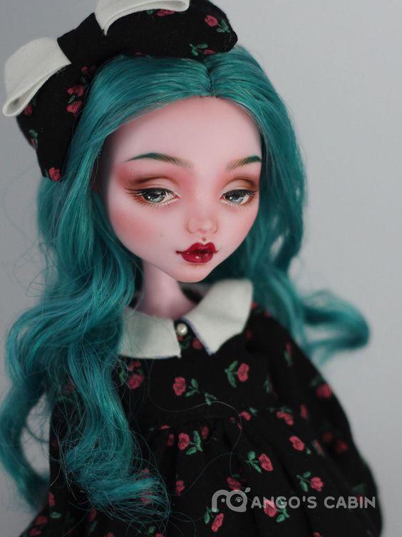 "Monster High Repaint Custom OOAK  ""Della"" by Mango's Cabin 4-Adult Mattel  #Mattel"