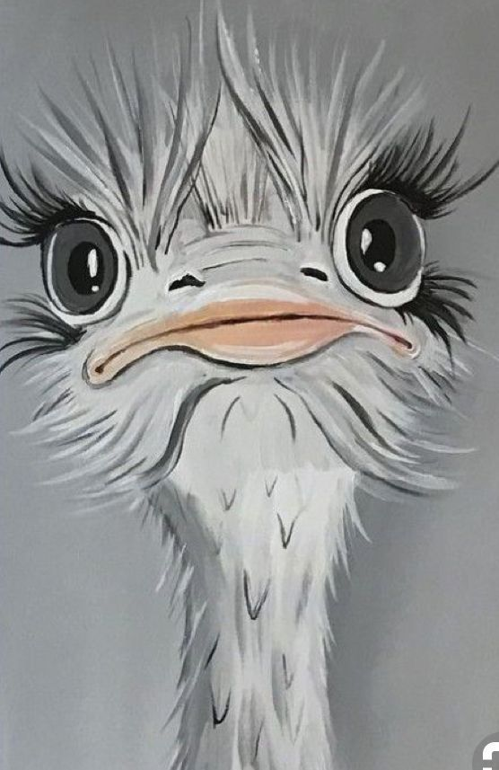 Fantastico Sin Costo Aves Ilustracion Popular Avestruz Manhattan Project Ilustraciodebora En 2020 Arte En Lienzo Arte De Aves Pintura De Arte
