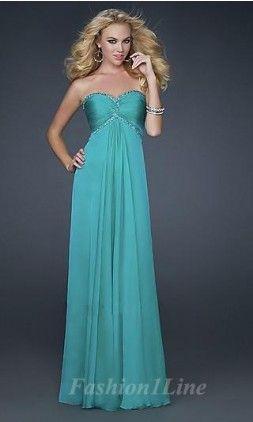 Prom Dress Straight Down