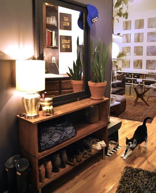 Christina 39 s slice of nyc small cool apartment therapy - Small apartment shoe storage ...