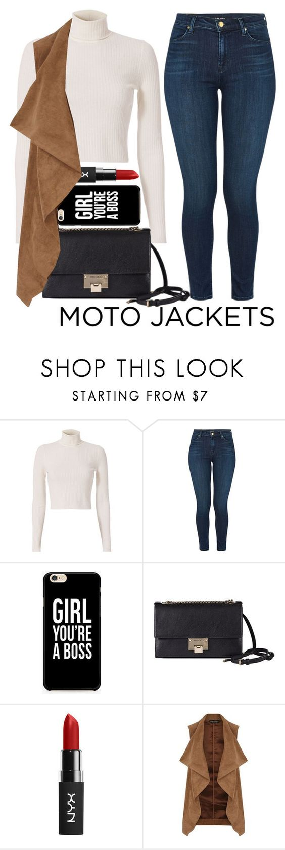 """""""Moto"""" by mareehamasood246 on Polyvore featuring A.L.C., J Brand, Jimmy Choo and Dorothy Perkins"""