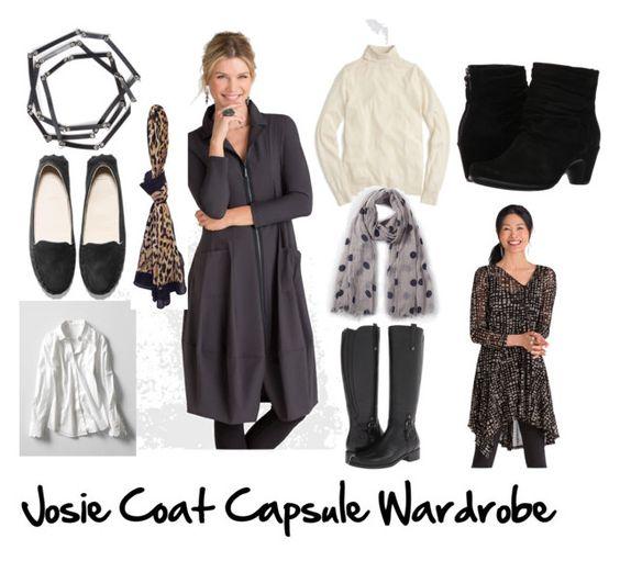 Josie Jacket Capsule Wardrobe by cindyhattersleydesign on Polyvore featuring J.Crew, Banana Republic, Earth, Blondo and Urban Originals: