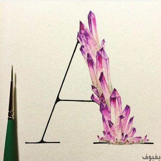 حرف A مزخرف أجمل صور A مزخرف للواتس اب و الفيس بوك بفبوف Typography Inspiration Hand Lettering Art Design