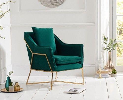 Larna Accent Chair Green Velvet Green Chair Living Room