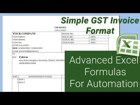 Format Of Tax Invoice Under Gst Regime For InterState National