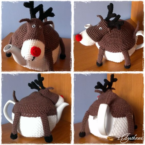 ... Renifer ocieplacz na dzbanek - Rudolph The Red-nosed Reindeer tea cosy