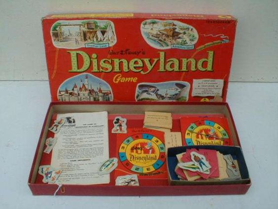 Vintage Toys And Games : Games of the s vintage disneyland board game from
