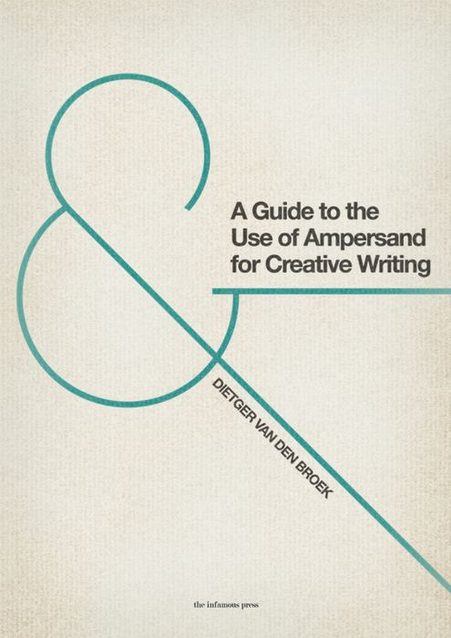 Ampersand! No designer credit, boo!