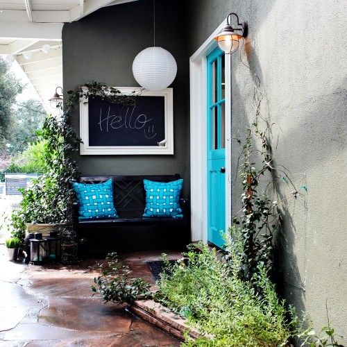 Make an Entrance with a bright color door!