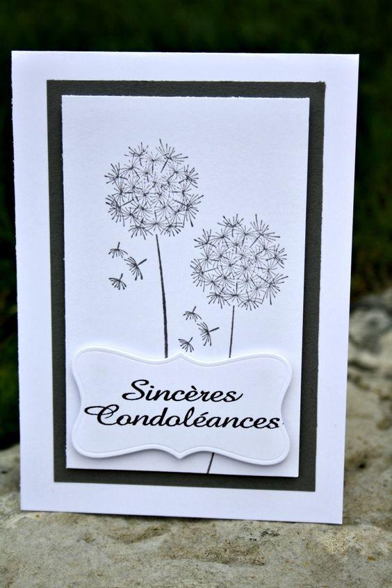 Carte de condoléances : Cartes par lady-coccinelle-creations