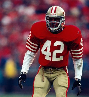 Toughness IS Ronnie Lott.  Had the tip of his pinkie finger amputated to stay in the game!
