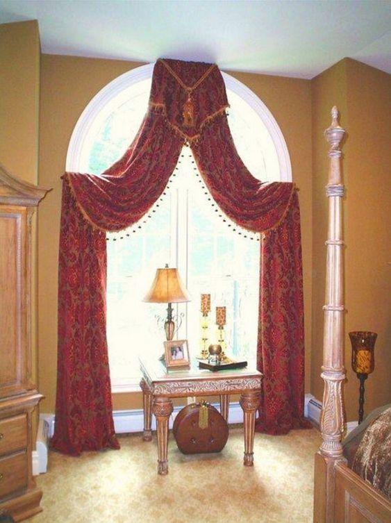 arch window curtain styles   1   Pinterest   Arches, Curtain ...