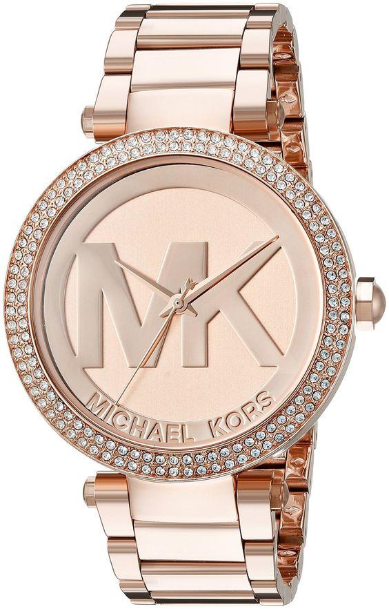 Amazon.com: Michael Kors Women's Parker Rose Gold-Tone Watch MK5865: Michael Kors: Clothing