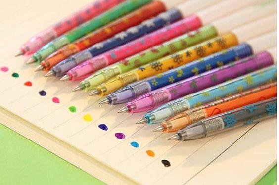Nuovo 12 pz di impostare acquerello penne gel Penne di mycraft2014