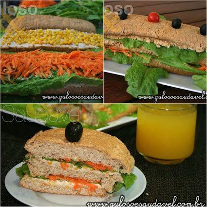 Fim de 6ª feira e eu preguiçosa por aqui... só penso em um delicioso Sanduíche de Frango para o #lanche ou #jantar!!  #Receita aqui: http://www.gulosoesaudavel.com.br/2012/07/17/sanduiche-frango/