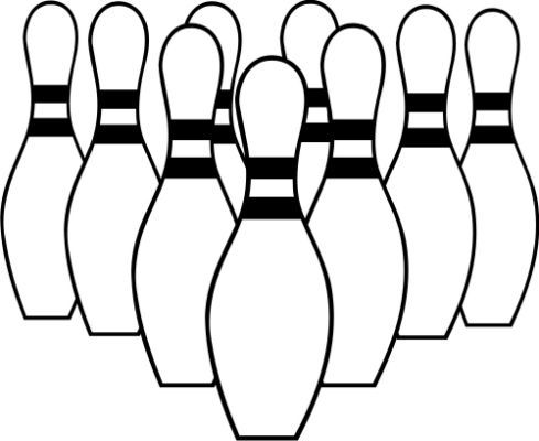 Bowling Black And White Clipart Clip Art Borders Bowling Svg