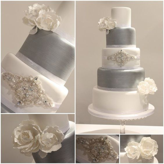 Pictures 10 of 10 - White And Silver Wedding Cakes Pictures | Photo Gallery - Wedding Cake Designs