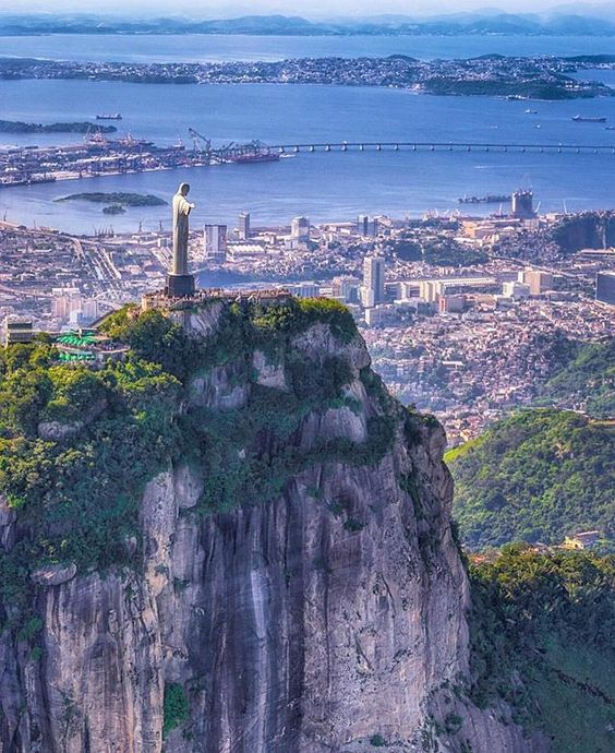 Christ the Redeemer - tag who you'd travel here by helicopter with to get an incredible photo like this .  @theplanetd