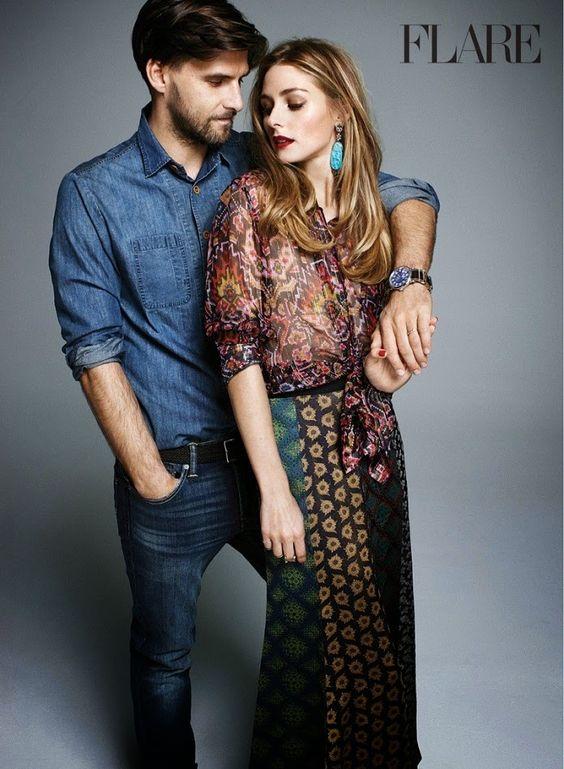 Fantasy Fashion Design: Olivia Palermo y su marido Johannes Huebl posan para la revista FLARE