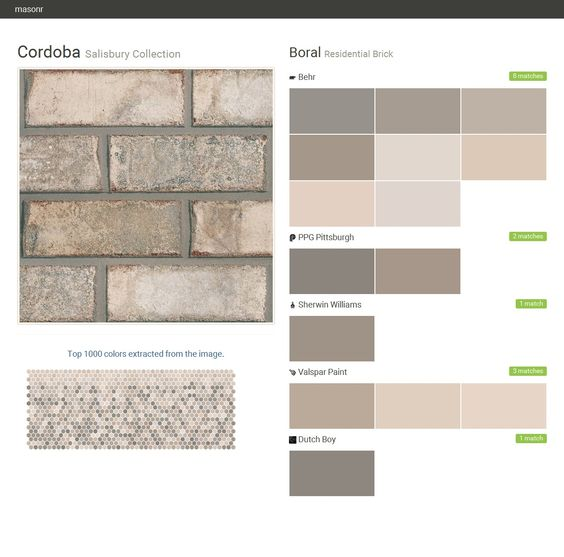 Bricks cordoba and buttons on pinterest - Breathable exterior masonry paint collection ...