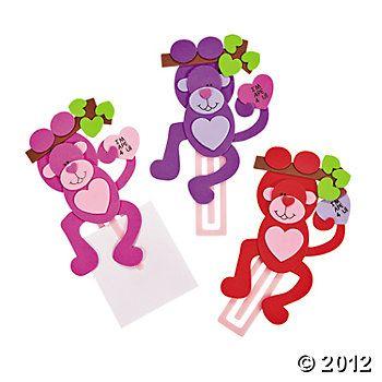 Valentine Monkey Bookmark Craft Kit