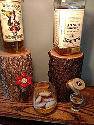 Log Liquor Dispenser, New and Improved, Patent Pending!